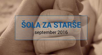 Šola za bodoče starše v mesecu septembru